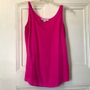 Amanda Uprichard fushia hot pink silk blouse tank